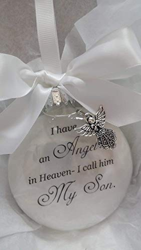 Child Memorial Christmas Ornament Sympathy Gift – Angel in Heaven I Call Him My Son