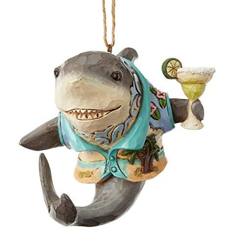 Enesco Margaritaville By Jim Shore Shark With Margarita Ornament, 3.2″