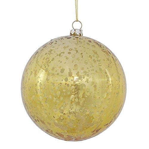 Vickerman 440186-4 Gold Shiny Mercury Ball Christmas Tree Ornament (6 pack) (M166308)