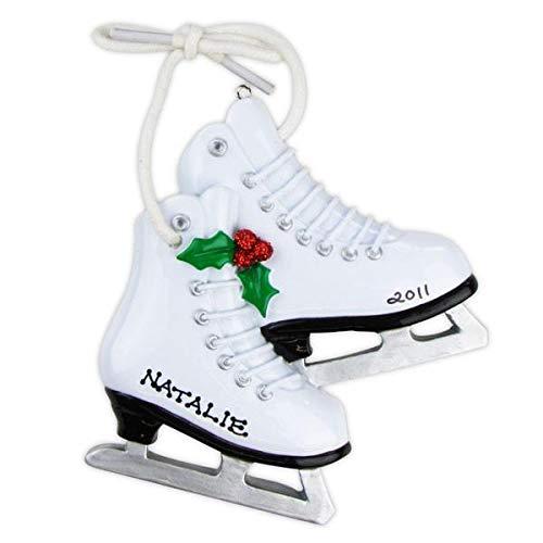 Polar X Figure Skates Personalized Christmas Ornament
