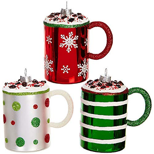 RAZ Imports Set of Three Mug Christmas Ornaments