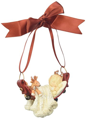 "Enesco 4057663 Heart of ""Christmas Baby's First Hanging Ornament"