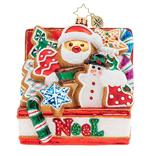 Christopher Radko Noel Cookies Better Christmas Ornament, Red, White, Green