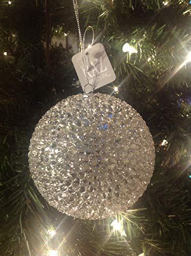 Christmas Ornament Thousand Eye Ball Silver Raz