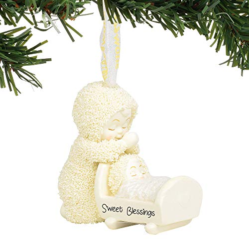 Department 56 Snowbabies Sweet Blessings Hanging Ornament, 2.75″, Multicolor