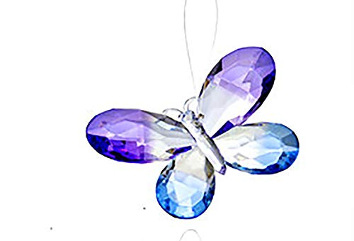 Ganz Colorful 5 Inch Butterfly Ornament/Sun-catcher (Purple/Blue)