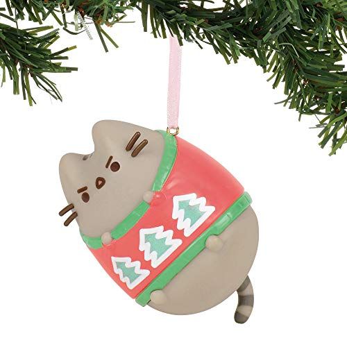 Department 56 Pusheen Ugly Sweater Hanging Ornament, 3 Inches, Multicolor