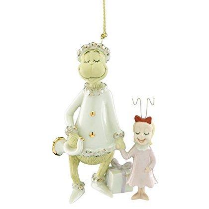 Lenox Grinch & Cindy Lou Ornament Very Merry Sound Dr Seuss Who Stole Christmas