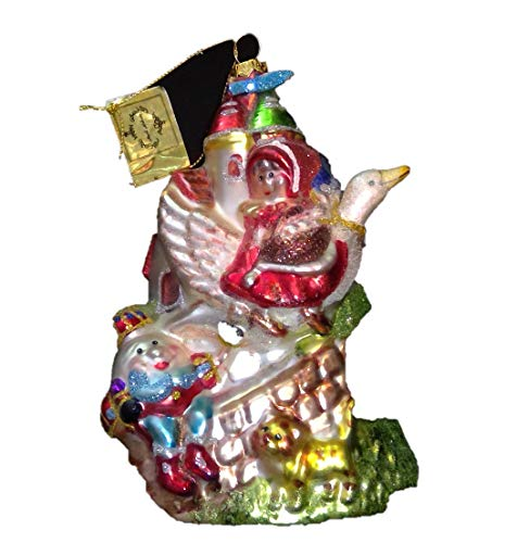 Fairy Tales Humpty Dumpty Mark Roberts Glass Christmas Ornament 6in