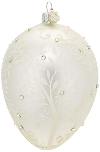 Reed & Barton Silver Mistletoe Egg Ornament