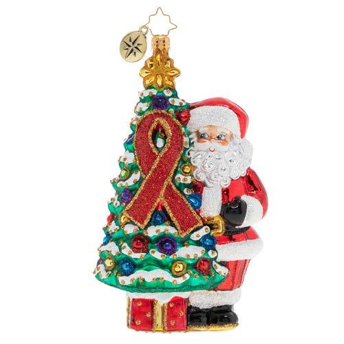 Christopher Radko AIDS Awareness Tree Christmas Ornament, Multicolor