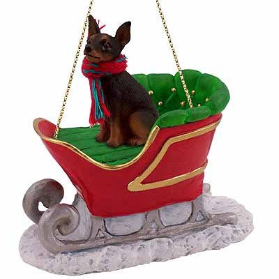 Conversation Concepts Miniature Pinscher Sleigh Christmas Ornament