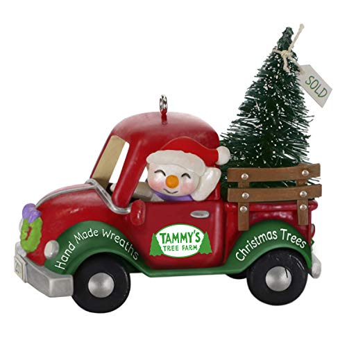 Hallmark Keepsake Ornament 2019 Year Dated Holiday Parade Snowman Driving Christmas Tree Truck,