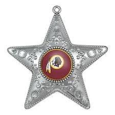 Washington Redskins Silver Star Ornament