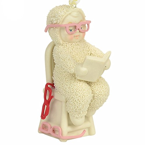"""Department 56 Snowbabies """"Where Are My Glasses"""" Porcelain Ornament, 2.95″"""