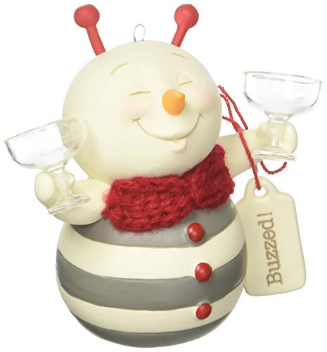 Department 56 Snowpinions Buzzed, 3″ Hanging Ornament, Multicolor