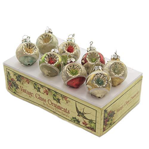 Holiday Ornaments Vintage Mini Indent Ornament Reflectors Christmas Lg4403