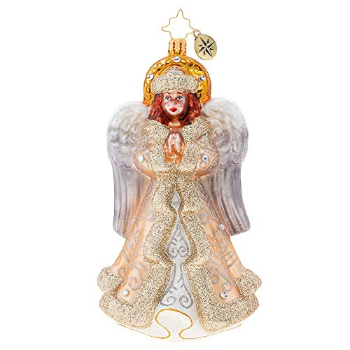 Christopher Radko xls Golden Glory Angel Christmas Ornament, White, Gold