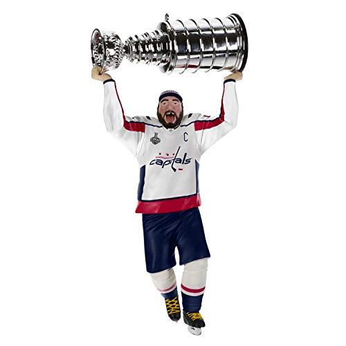 Hallmark Keepsake Christmas Ornament 2019 Year Dated NHL Washington Capitals Stanley Cup MVP Alex Ovechkin Hockey Player,