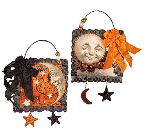 Bethany Lowe Magic Moonlight Postcard Ornaments (Set/2)