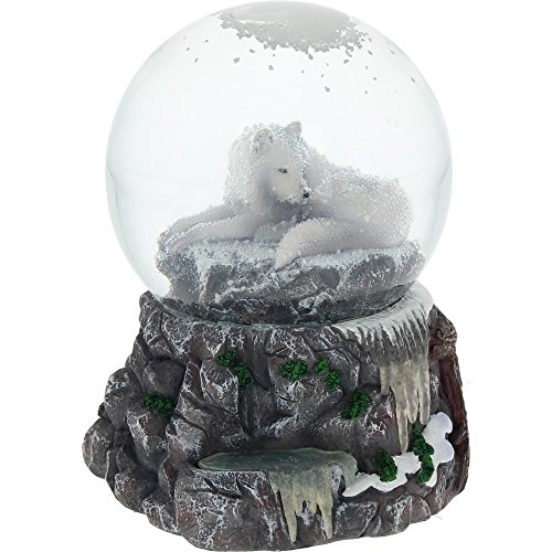 Lisa Parker – Guardian Of The North Snowglobe – White Wolf Snowglobe