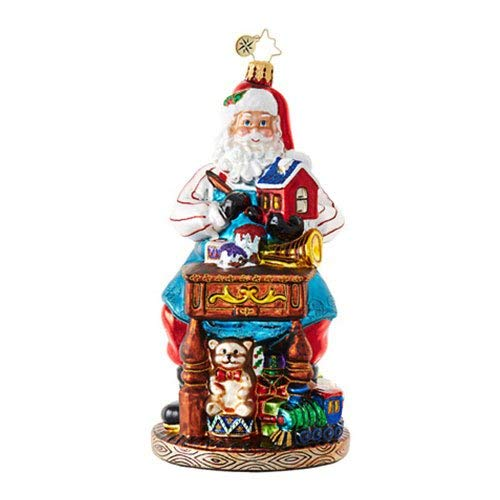 Christopher Radko Desk of Delights Santa Claus Christmas Ornament