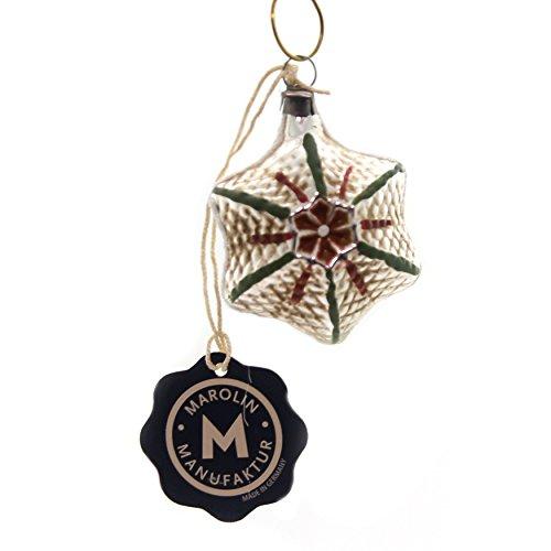 Marolin Vintage Looking Star Glass Ornament Feather Tree 2011064F