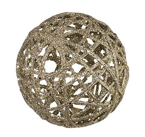 RAZ Imports 4.5″ Glittered Ball Christmas Ornament (4)