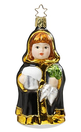 Inge-Glas Munich Maiden 1-023-16 German Blown Glass Christmas Ornament Gift Box