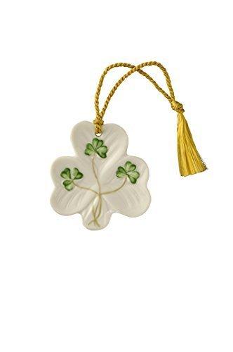 Belleek Shamrock Shaped Ornament by Belleek