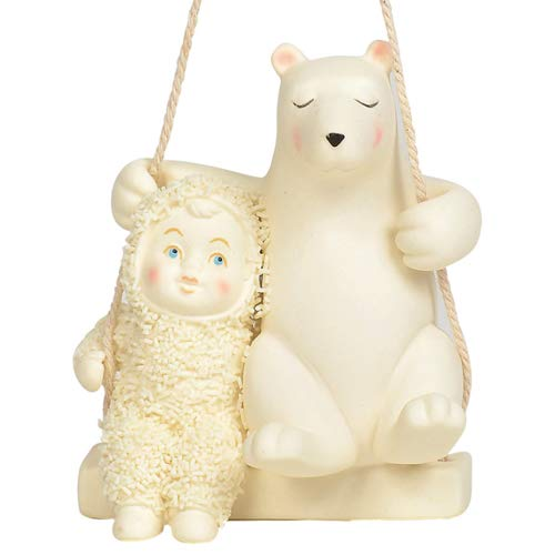 Department 56 Snowbabies Swing The Day Away Hanging Ornaments, 3″, Multicolor