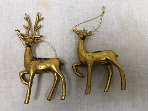 One Hundred 80 Degrees Buck & Doe Ornament Set