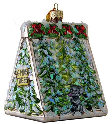 Landmark Creations' Sidewalk Christmas Tree Stand European Glass Christmas Ornament