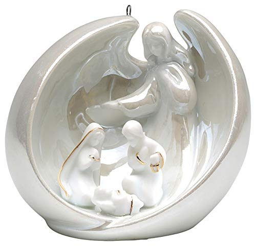 Appletree Design – Porcelain Ornament – Angel with Holy Family