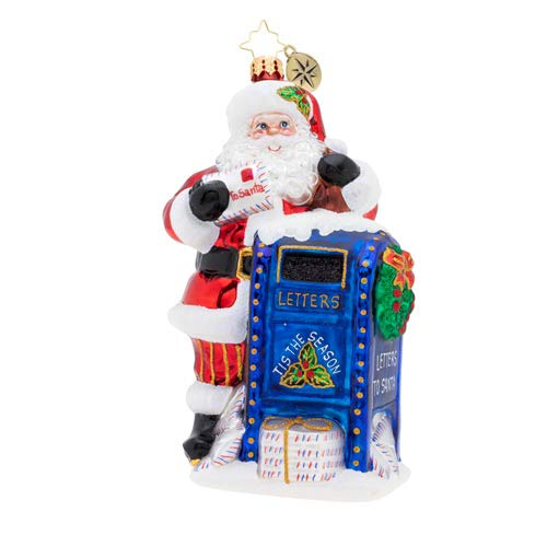 The Official Christopher Radko Company Dear Santa! Christmas Ornament, Multicolor