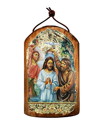 Christening Wooden Icon – Plaque Ornament by G. DeBrekht #87043