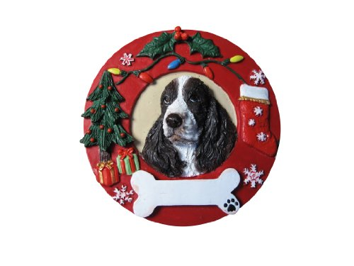 Springer Spaniel Ornament Personalized and Hand Painted Measures 3.75 Inches Diameter