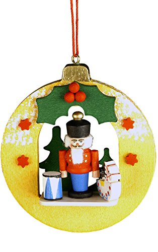"Christian Ulbricht 10-0452 Ornament – Nutcracker in Xmas Ball – 3″"" H x 2.75″"" W x 1″"" D"