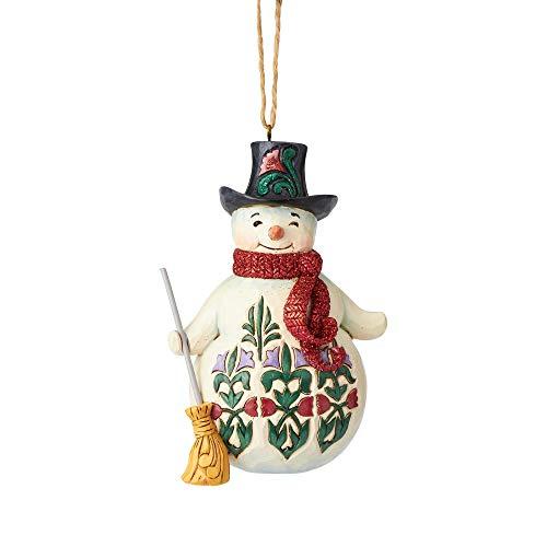 Enesco Jim Shore Heartwood Creek Wonderland Snowman w/Broom Ornament