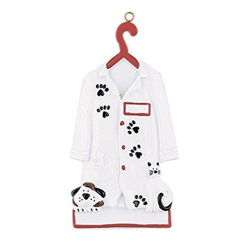 Personalized Veterinarian Christmas Tree Ornament 2019 – Vet Uniform Hanger Paw Print Dog Cat Medical Health Care Hospital New Job Doctor Profession Animal Pet Clinic Gift Year – Free Customization