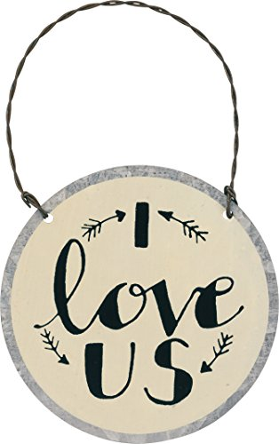 Primitives by Kathy PBK Valentines Decor – I Love Us Wedding Ornament