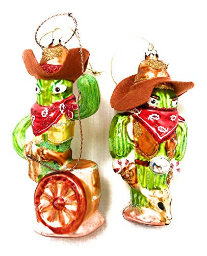 One Hundred 80 Degrees Cowboy Cactus Set of Two
