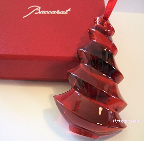 BACCARAT Crystal Noel RED TREE ORNAMENT