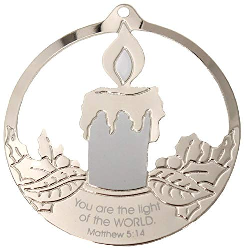 Gloria Duchin Candle Ornament 'You are The Light of The World' Ornament 3 1/2″ Made in USA