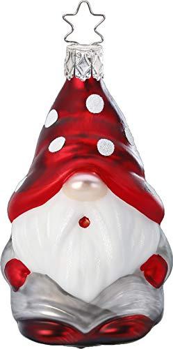 Inge-Glas Mushroom Gnome Kalle 10012S019 German Glass Christmas Ornament
