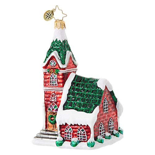 Christopher Radko Crimson Steeple Brilliant Treasure Christmas Ornament