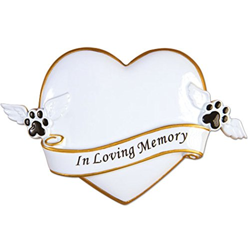 Personalized R.I.P. Memorial Christmas Tree Ornament 2019 – in Loving Memory Heart Faithful Cat Dog Angel Paw Pet Remembrance Furever Bone Heaven Gift Year – Free Customization