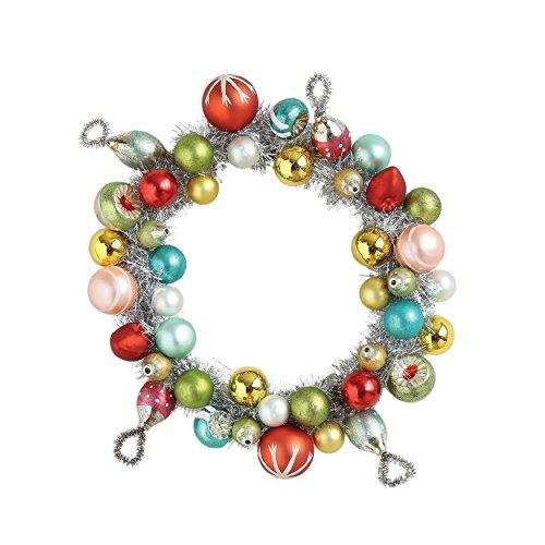 Creative Co-op Round Glass Ornament Wreath