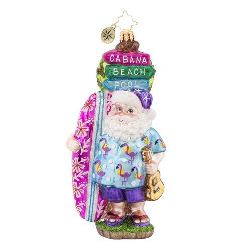 Christopher Radko Aloha Santa! Christmas Ornament