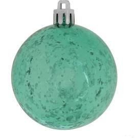 Vickerman 4.75″ Teal Shiny Mercury Ball Christmas Ornament, 4 per Bag